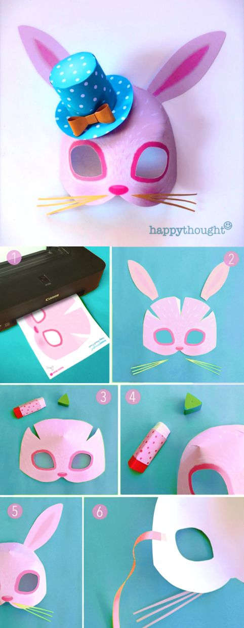 Instant Make Printable Animal Masks. Download Mask