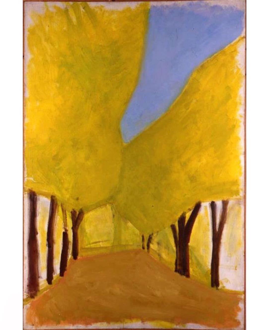 Carob Tree Boulevard by Israeli painter Ori Reisman | Painting ...