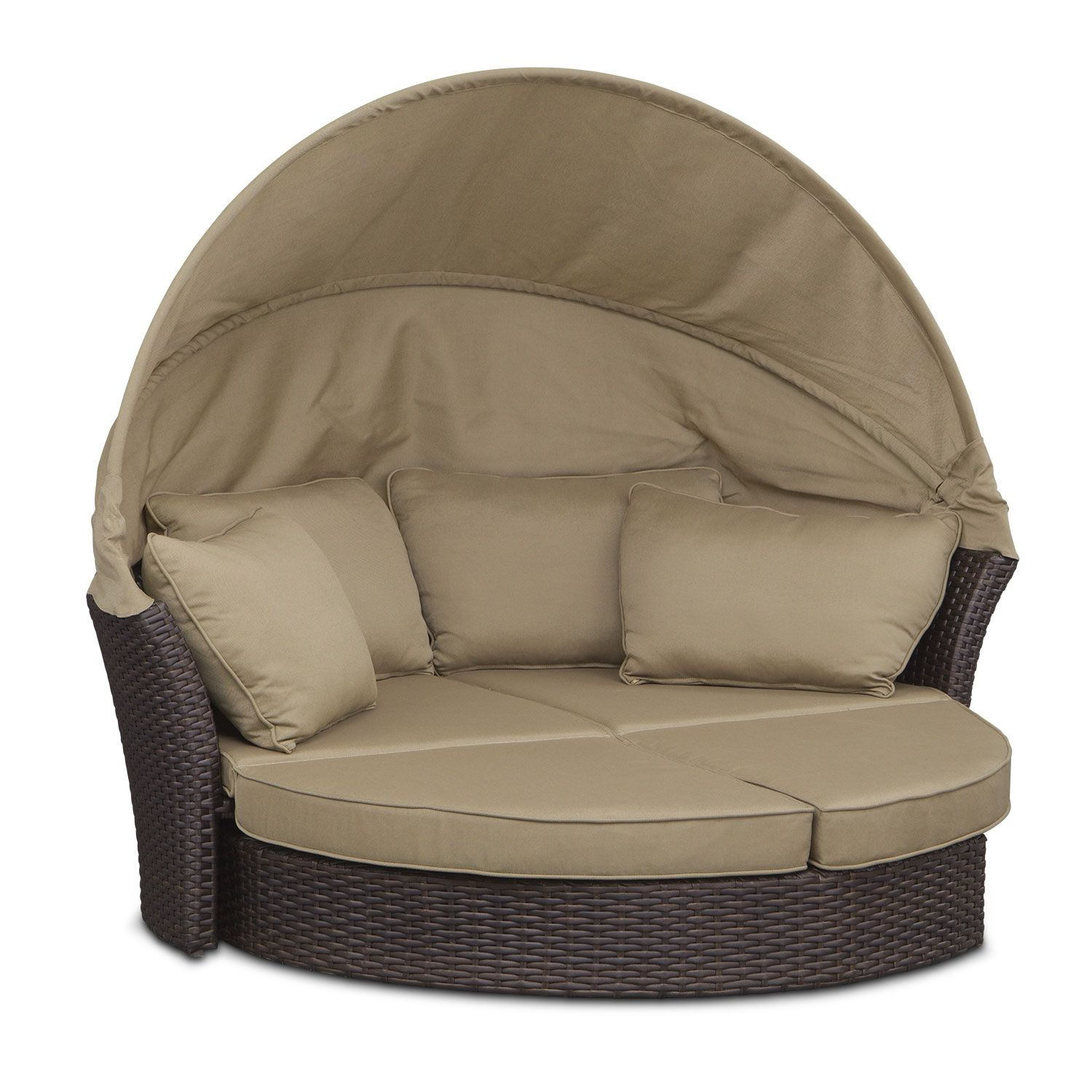 Maui Outdoor Sunbed Brown