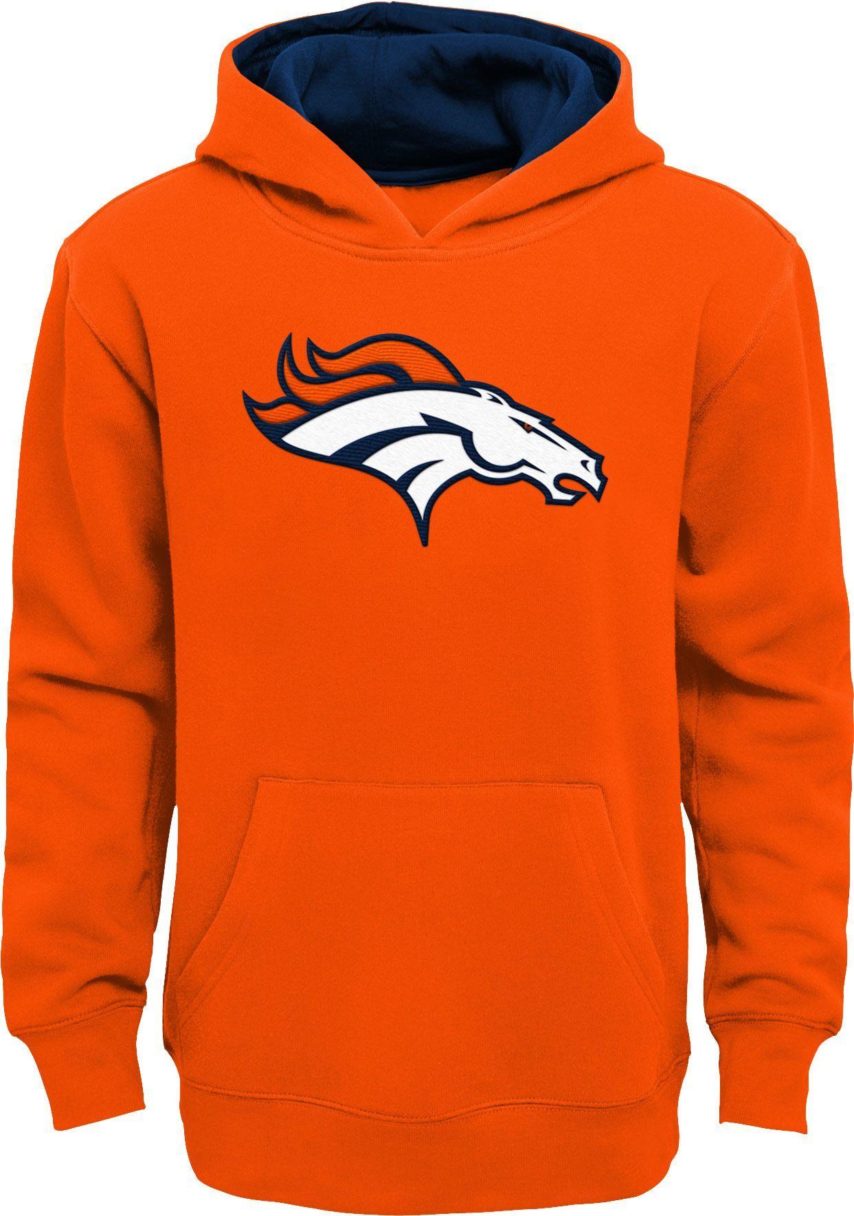 NFL Team Apparel Youth Denver Broncos Prime Orange Pullover Hoodie ... 2f59f0046