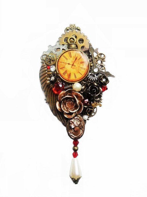 Steampunk Jewelry Ornate Steampunk Pendant by OneStopSteamShoppe