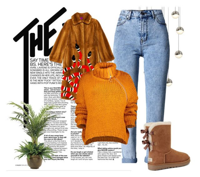 """""""Bez naslova #1"""" by dilaida ❤ liked on Polyvore featuring WithChic, Gucci, Marques'Almeida, UGG, NDI and Sonneman"""