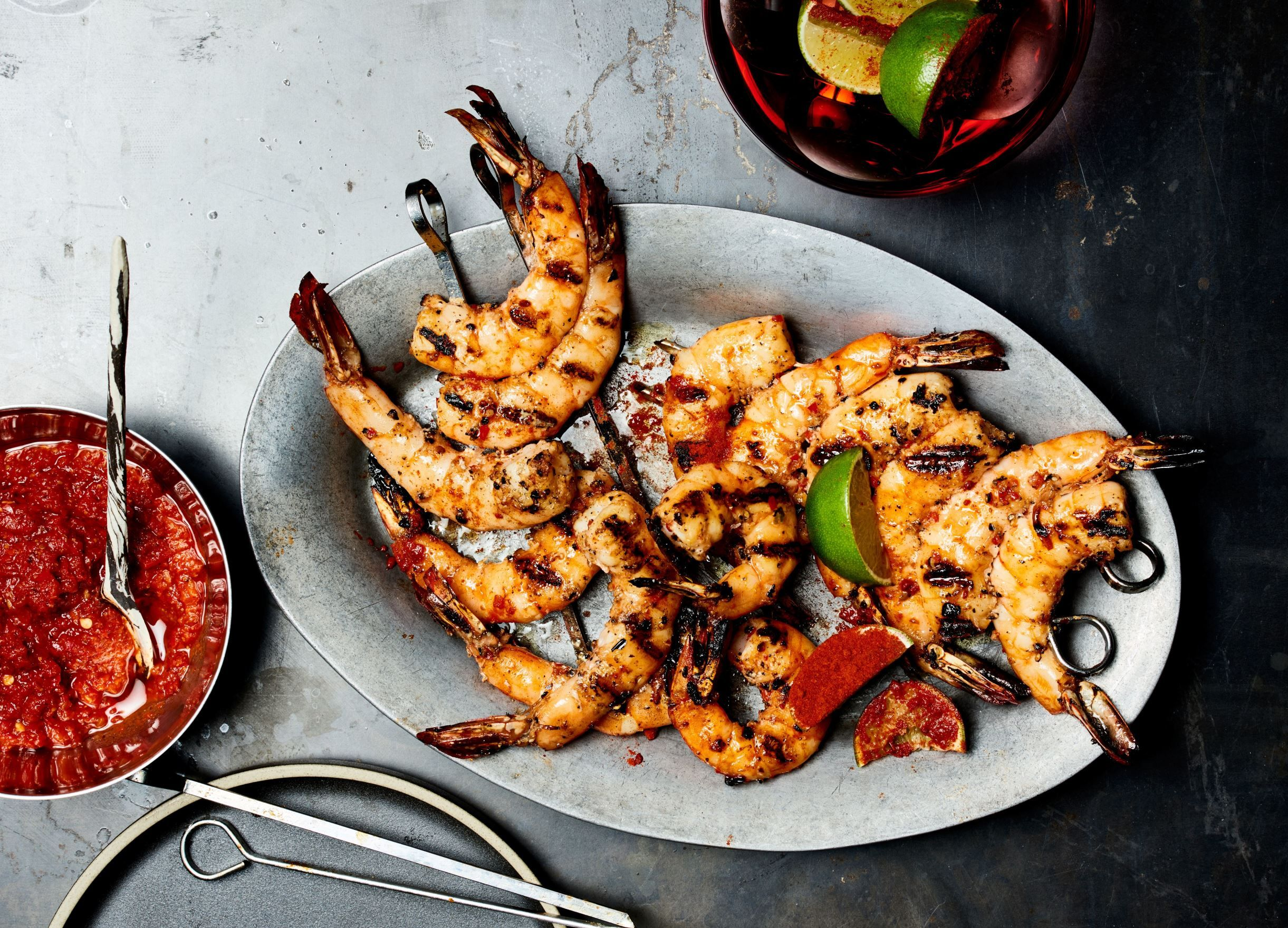 Don't let your shrimp fall through the grill grates or spin around on skewers.