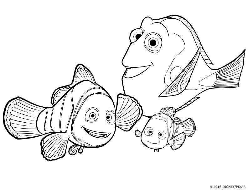 Único Coloriage Nemo Dory Et Marin Ilustración - Dibujos Para ...