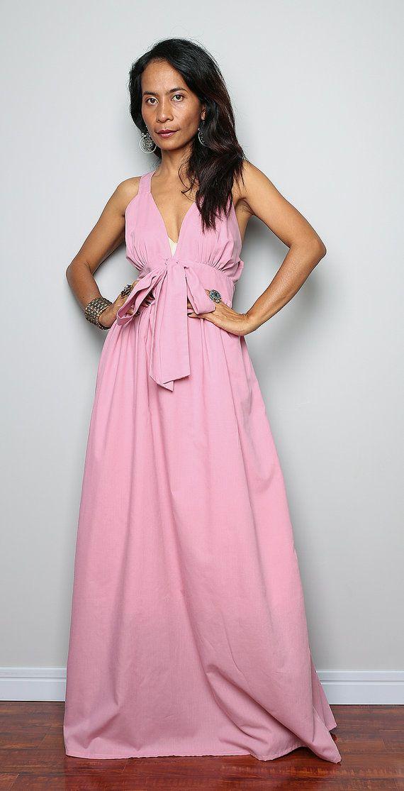 Soft Pink Dress / Pink Maxi Dress / Long Light Pink Evening Gown ...