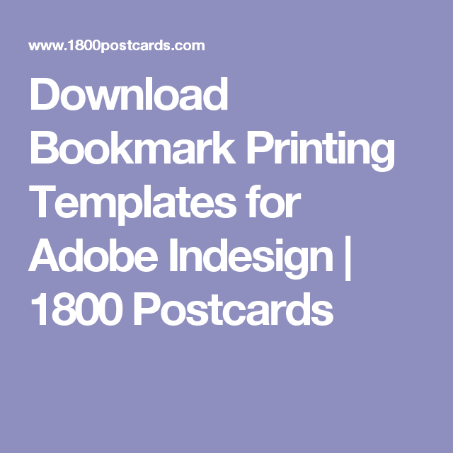 Download Bookmark Printing Templates For Adobe Indesign
