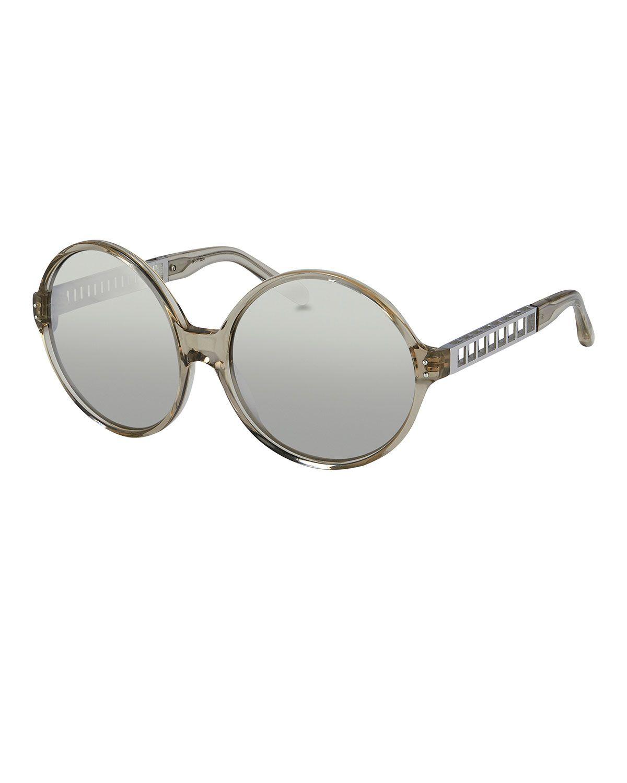 Round Acetate   Metal Sunglasses, White Gold Platinum, Wht Gold White - 5a6f5f5ea12f