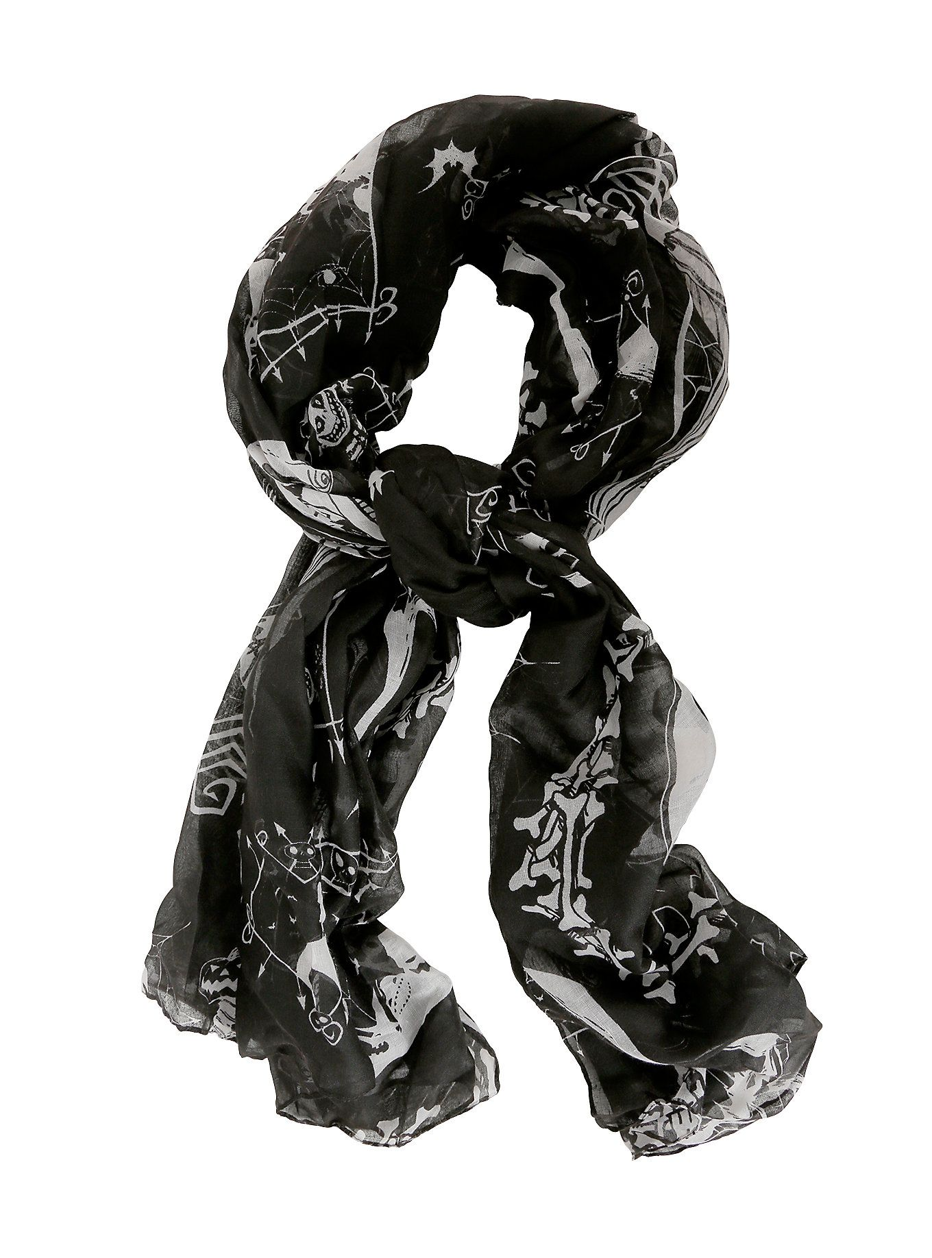 The Nightmare Before Christmas Cameos Oblong Scarf | Pinterest ...