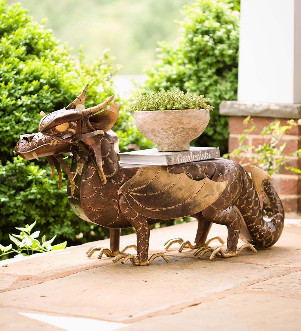 Lighted Metal Dragon Side Table | Thar be Dragons | Pinterest ...