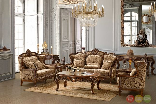 Luxurious Traditional Style Formal Living Room Set Hd 03