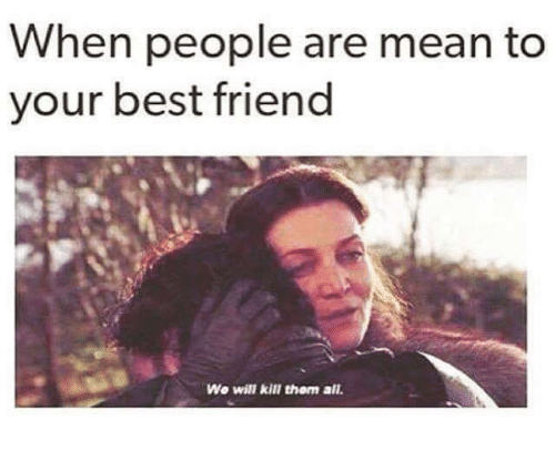 When people are mean to your best friend. Share with your friends. #quotes #memes #funny #humorousfriendquotes