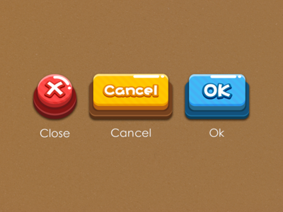game icon and button design on Behance 게임 아이디어