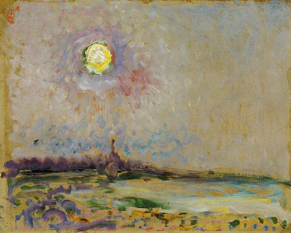 Jan Sluyters Landscape with Full Moon 1910