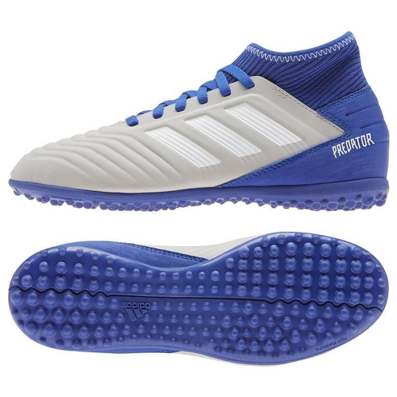 Buty Pilkarskie Adidas Predator 19 3 Tf Jr Cm8548 Niebieskie Wielokolorowe Adidas Predator Casual White Sneakers Adidas