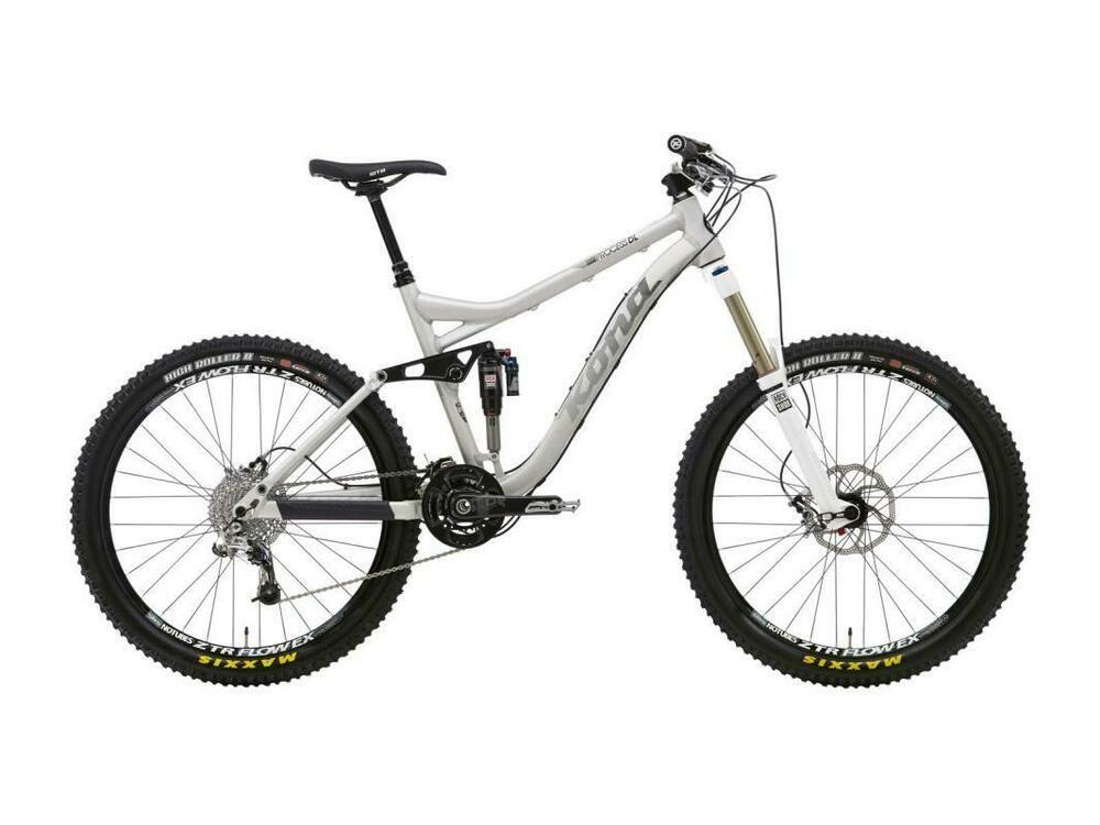 Kona Mtb Fahrrad Aluminium Xl Silver Anodized Black White Fahrrad Enduro Fahrrad Herrenfahrrad