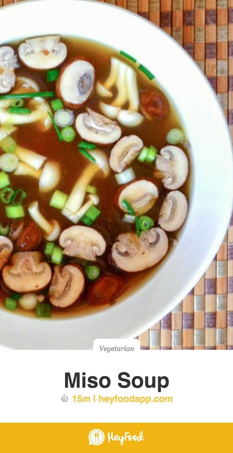 Miso Soup  Miso Soup is the original health food, it's been nourishing the Japanese for centuries, and you can make it yourself in minutes.    Recipe credit: The View From the Great Island