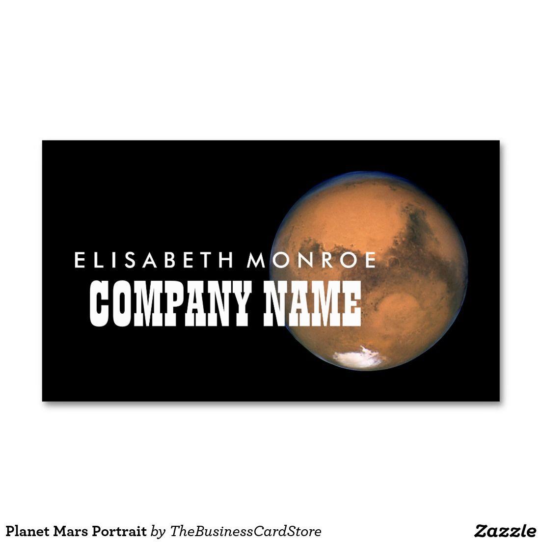 Carte De Visite Name Cards Planet Mars Portrait Business Card