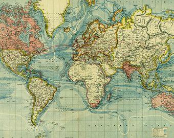 Mappe digitali dell annata vecchio Americas di Almanac