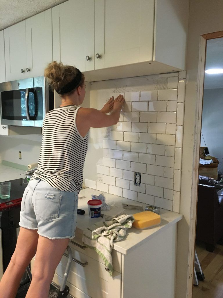 Subway Tile Step By Step Tutorial Part One House Plansdesigns - Backsplash-installation-plans