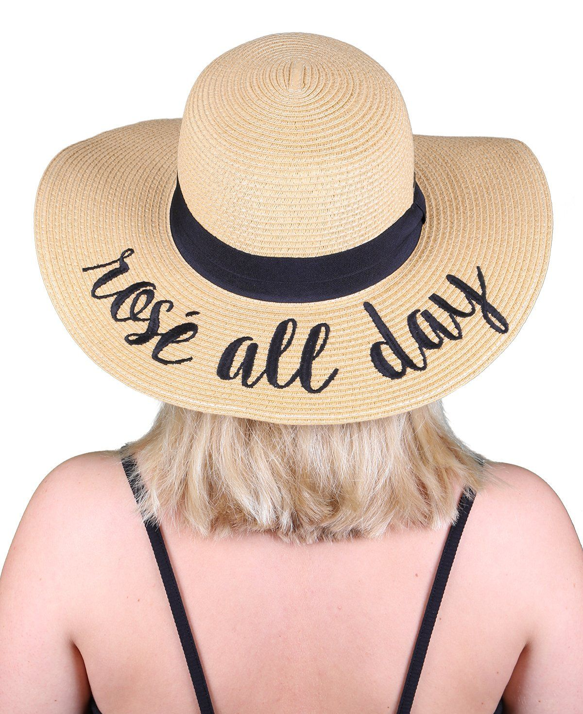 2bfc0b94 C.C Embroidered Sun Hat - Rosé All Day   Rose all day   Hats, Sun ...