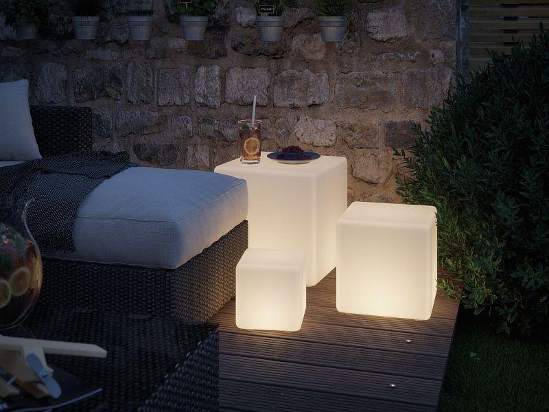 Plug Shine Lichtobjekt 20cm Cube Ip67 3000k 24v Led Deckenbeleuchtung Lampen Garten Aussenleuchten