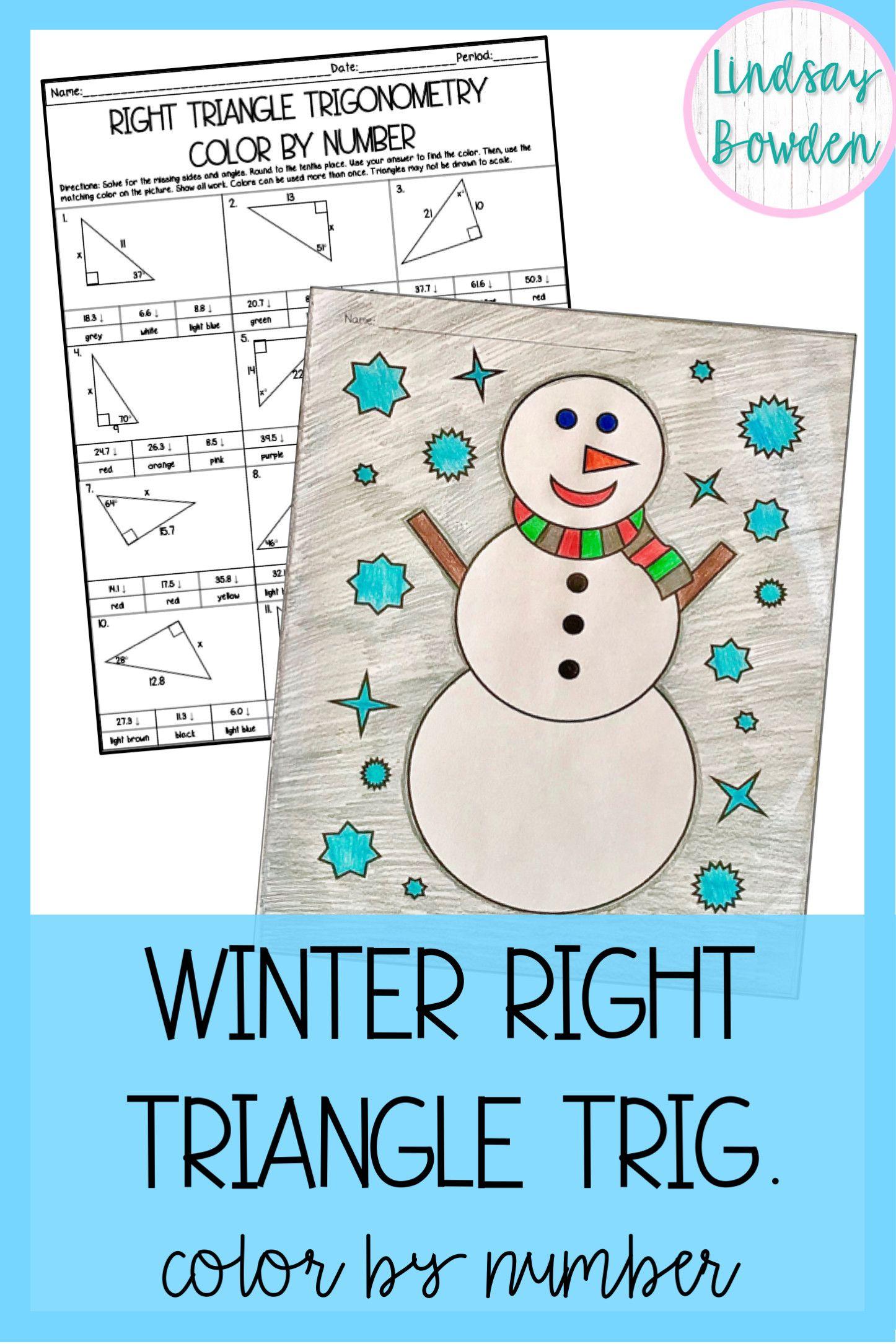 5 Snowman Geometry Worksheets In