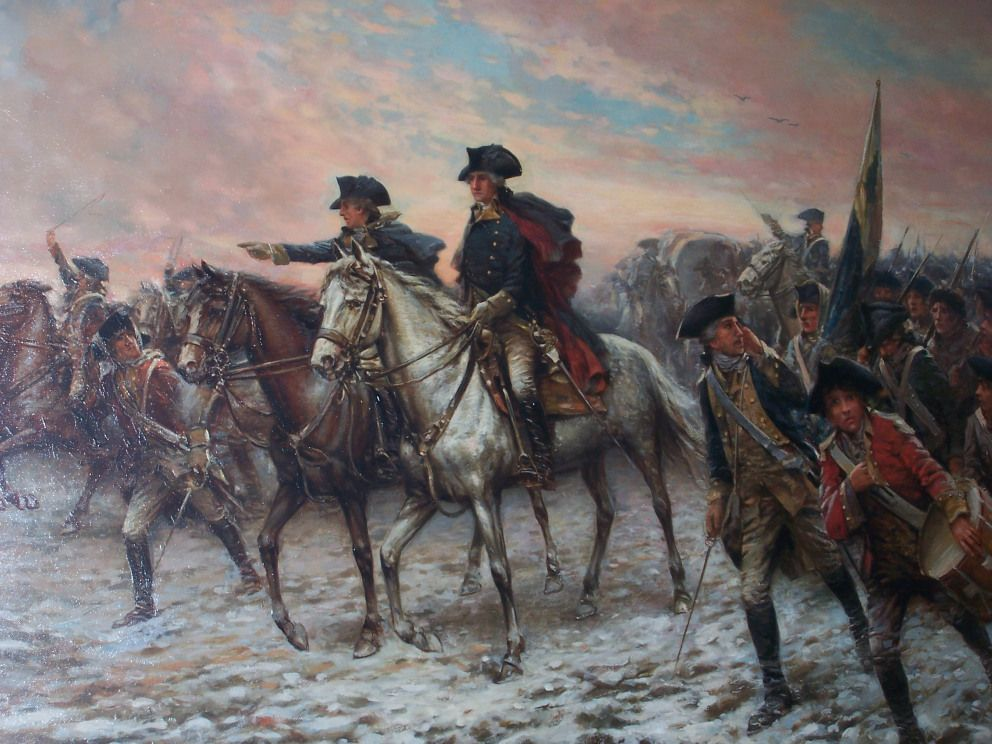 George Washington At Valley Forge Battle Of Trenton American
