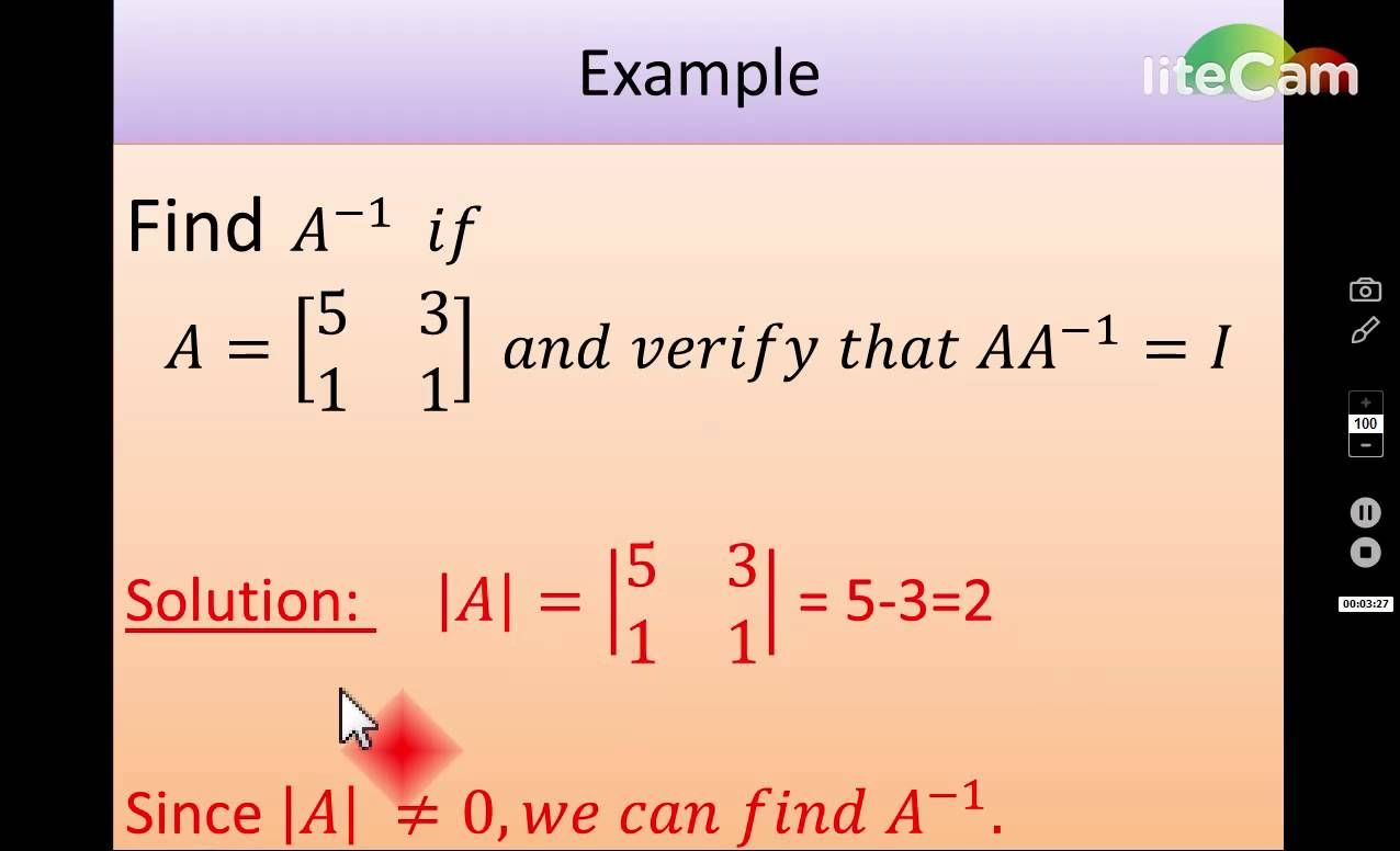 How To Find Inverse Modulus And Adjoint Of Matrix 2x2 Matrix Education Find