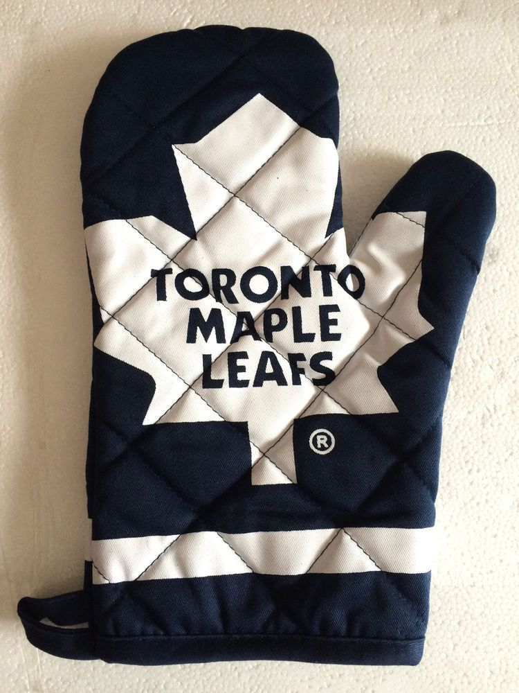 Toronto Maple Leafs Oven BBQ Glove Mitt White Blue NHL | Collectible ...