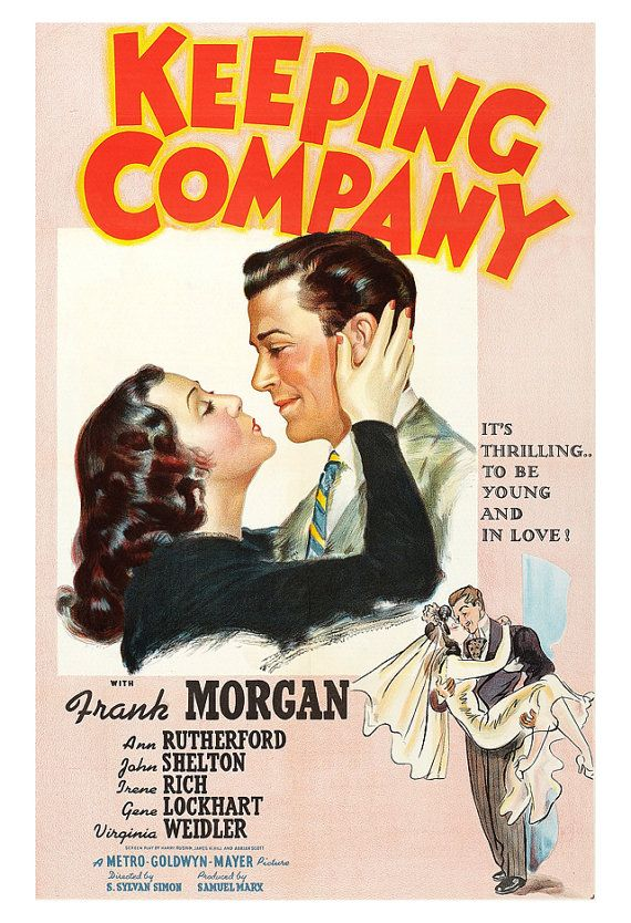Keeping Company Home Theater Decor Classic Movie Romance