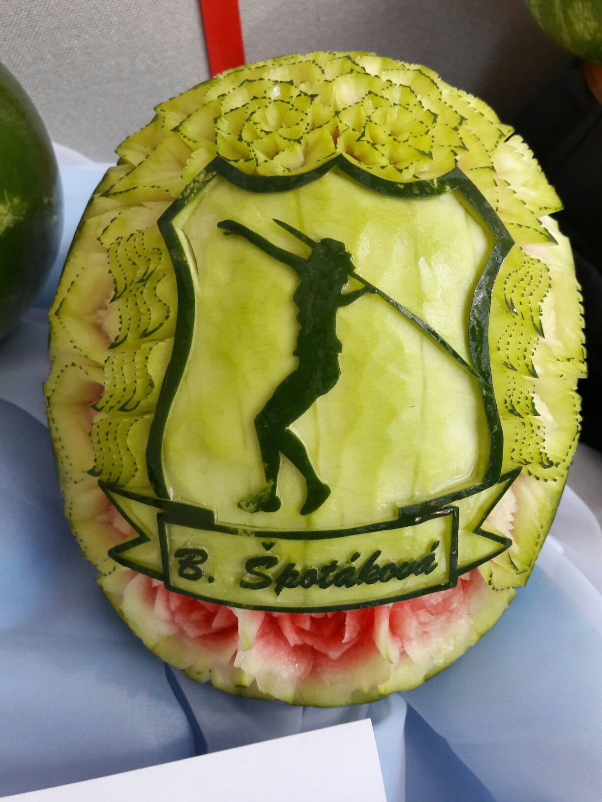 Carving fruit carving watermelon birthday gift thai carving