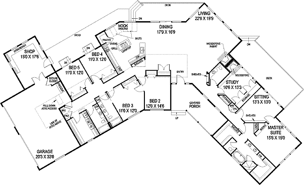 Plan 77246ld Angled Ranch House Plan In 2020 Ranch House Floor Plans Ranch Style House Plans Floor Plans Ranch