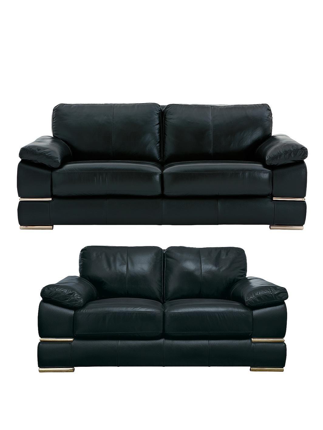 Primo Italian Leather 3 Seater 2