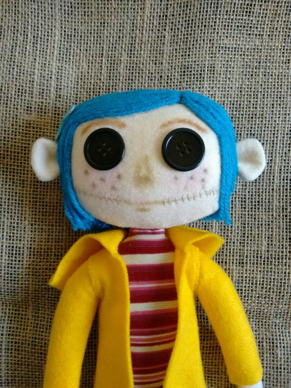 Sale Handmade Coraline Doll Ships From London Coraline Doll Dolls Handmade Coraline