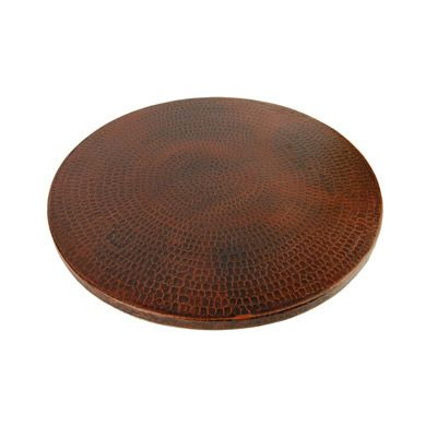 Premier Copper Products 18 Inch Hand Hammered Copper Lazy Susan