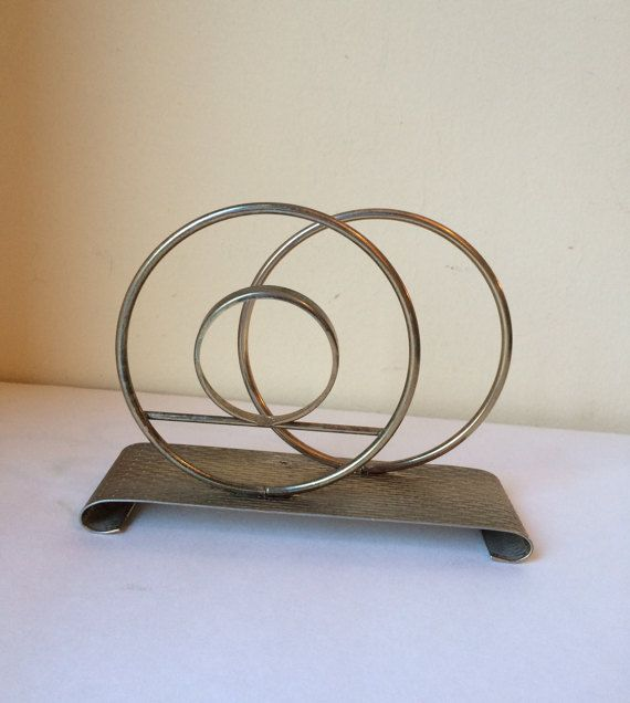 Art deco metal letter caddy by callmemadame on etsy