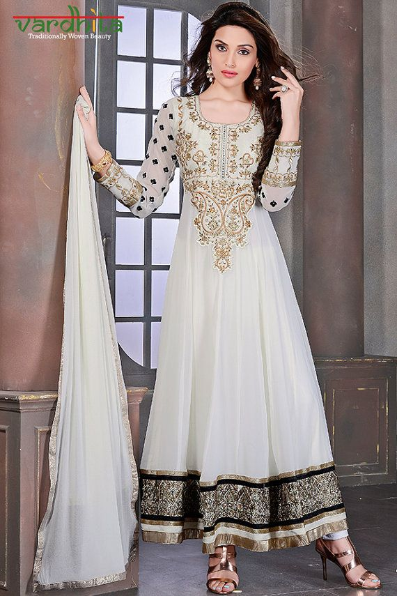 5dfa2e67519d Off White color Georgette Fabric designer door VardhitaSarees ...