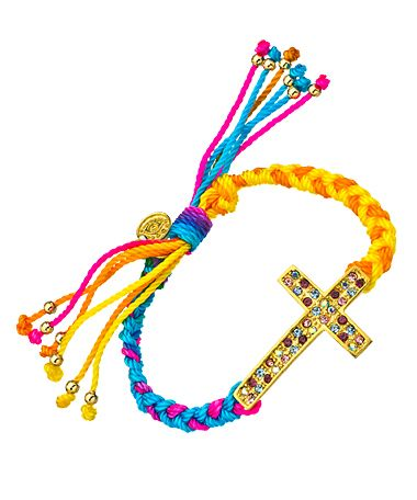Blee Inara Cross Macrame Friendship Bracelet Price: $45.00 ...