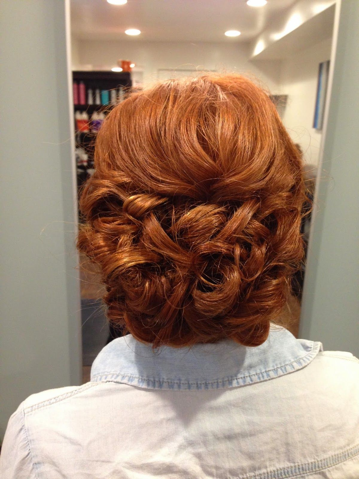 alexcrabtreehairandmakeup wedding hairstyle updo red hair | alex