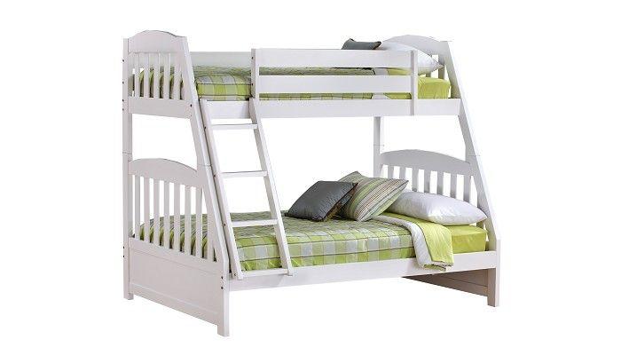 Slumberland Furniture   Ridgewood Collection   Twin Full White Bunk Bed    Slumberland Furniture Stores And Mattress Stores