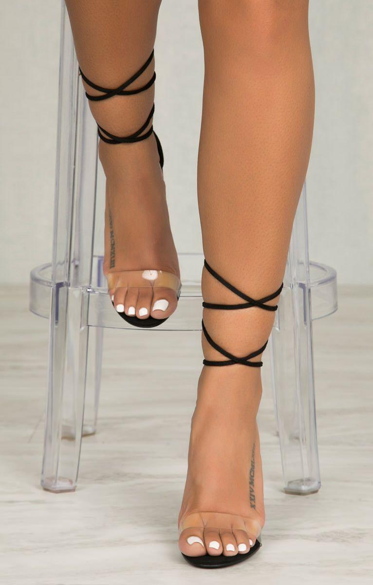 167571ea1bf Wicked Lace Up Block Heel (Black)