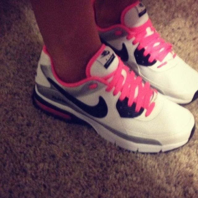 pink black and white nikes