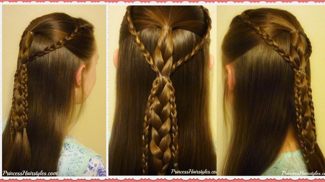 Quick and easy hairstyle for school simple gathered braids