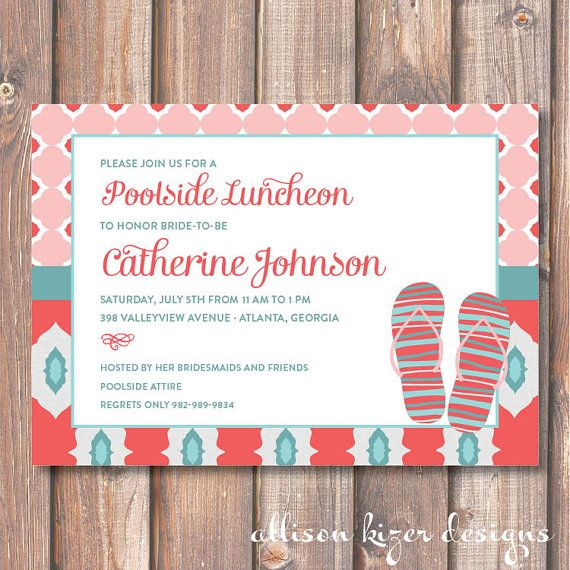 6347a14c9611c Chic Flip Flops Printable Invitation