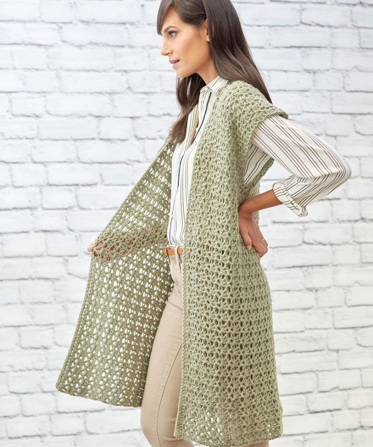 Free Crochet Pattern for Sage Stitch Long Cardigan | Crochet ...
