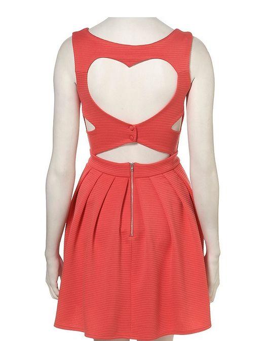 Rib Heart Back Prom Dress By Dress Up Topshop