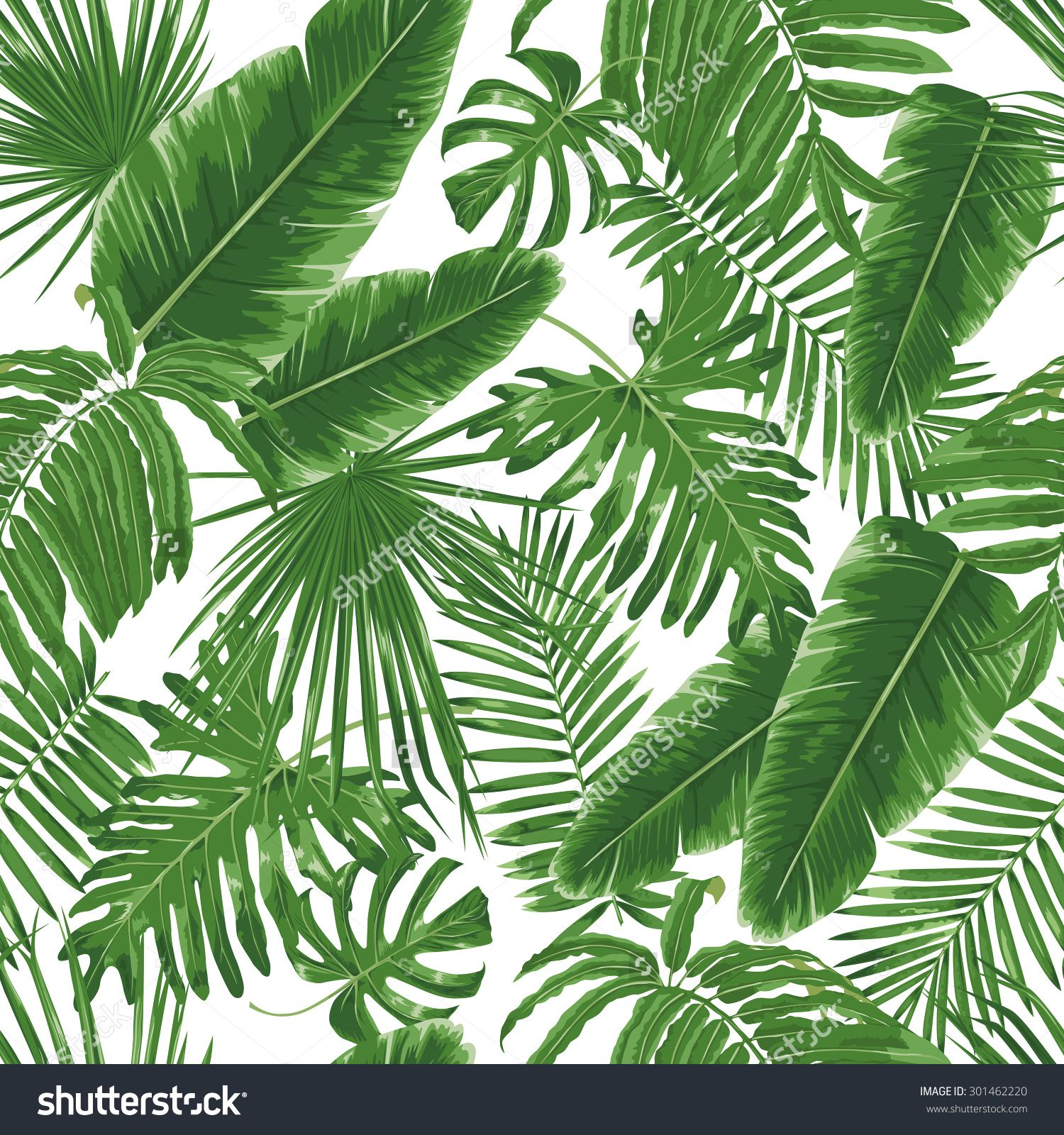 Small Half Bathroom Ideas Stock Vector Tropical Leaves Dense Jungle Seamless