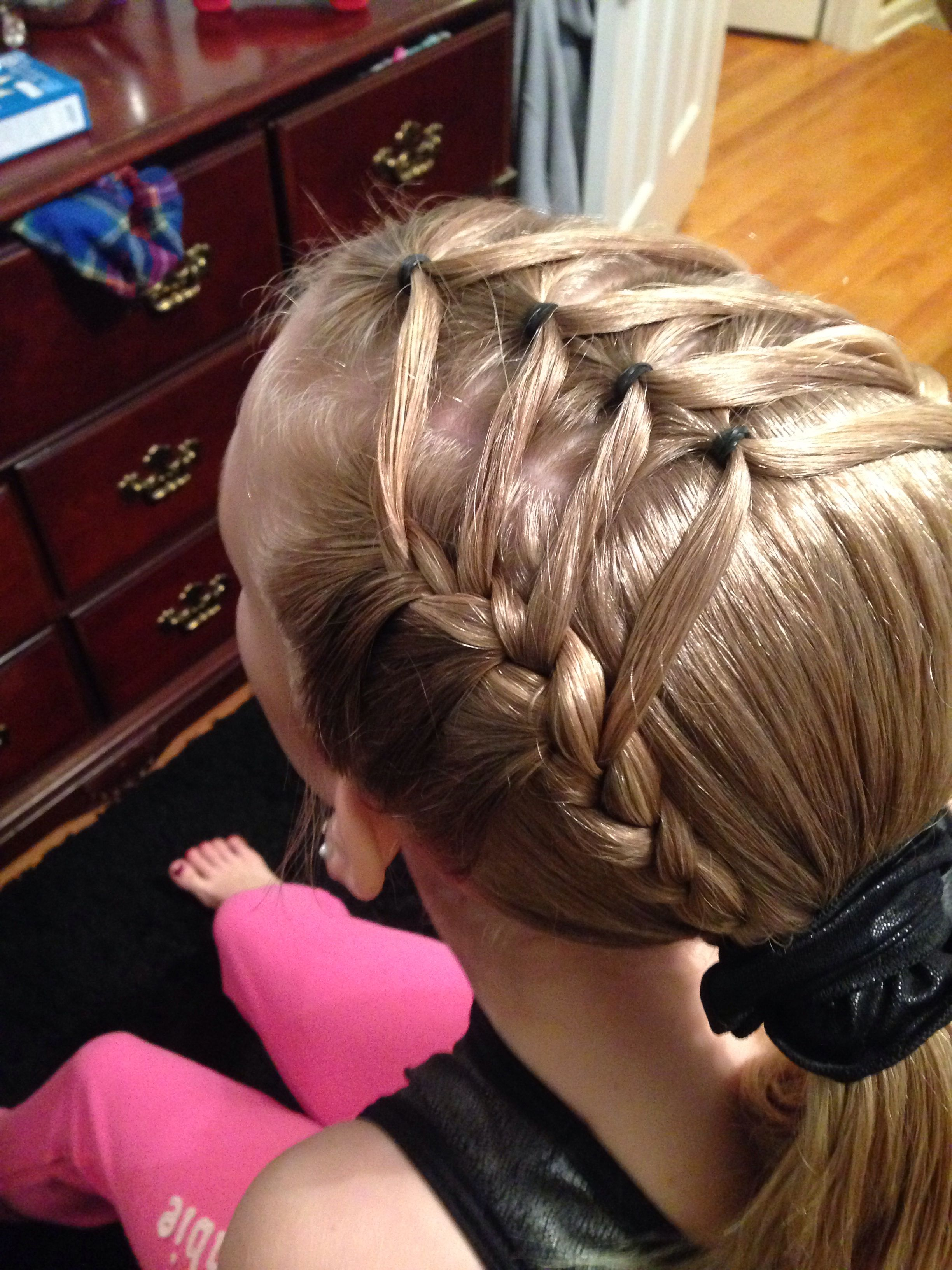 Gymnastics hairstyle things to wear pinterest gymnastics