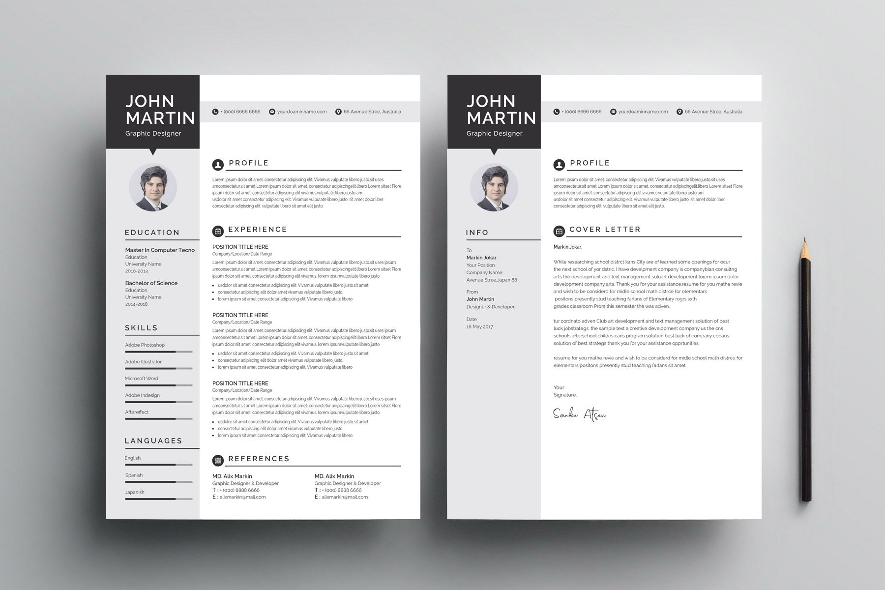 Minimalist Cv Design Templates Cv Design Template Resume Design