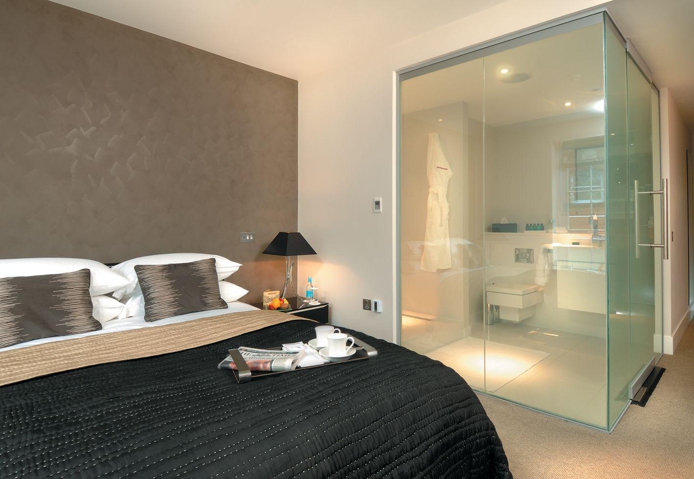awesome bedroom hotel with transparent bathroom for 2013 design rh pinterest com